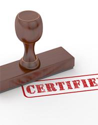 Certification matérielle de signature