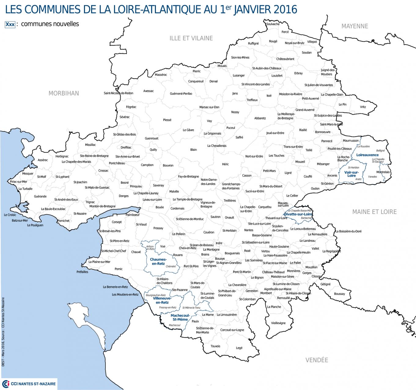 Info carte loire atlantique communes - Office de tourisme de loire atlantique ...