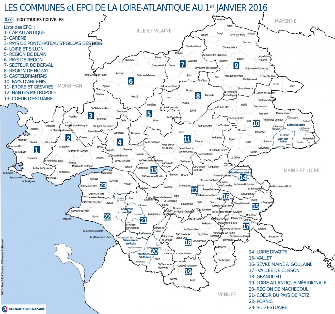 Carte Loire Atlantique.Intercommunalites Quel Est Le Nouveau Visage De La Loire