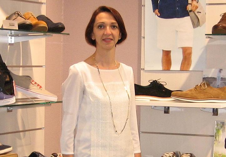Hélène Dubernet, gérante de Chauss Mini Maxi