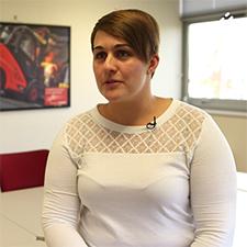 Justine Conan, assistante QSE Loire Océan Manutention