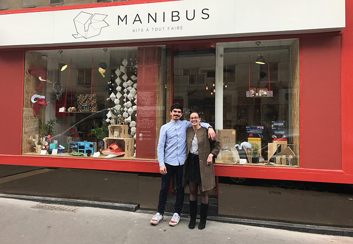 Amandine Moreau et Benjamin Bourel, dirigeants de Manibus