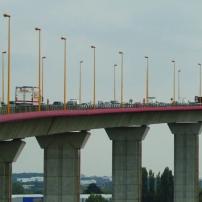 Le Pont de Cheviré aux heures de pointe