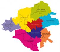 Carte des conseils territoriaux et EPCI de Loire Atlantique