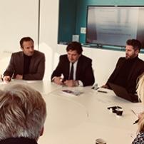 Comité d'admission IME Nantes en présence de Yann TRICHARD, président de la CCI Nantes St-Nazaire, et Dominique RESTINO, président de l'Association Française des IME et président de la CCI Paris
