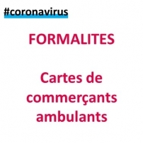 Coronavirus : cartes de commerçants ambulants