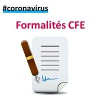 Coronavirus : formalités entreprises