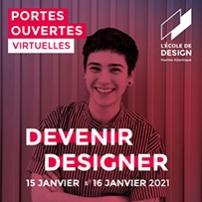 Portes ouvertes virtuelles de l'Ecole de Design Nantes Atlantique