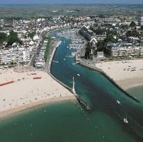 Vue aérienne du port du Pouliguen