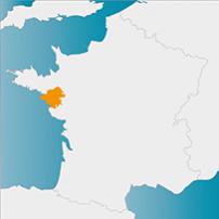 localisation de la Loire-Atlantique